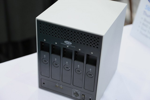 The LaCie 5big Thunderbolt RAID was one of the few new Thunderbolt devices we saw on the 2013 CES show floor.