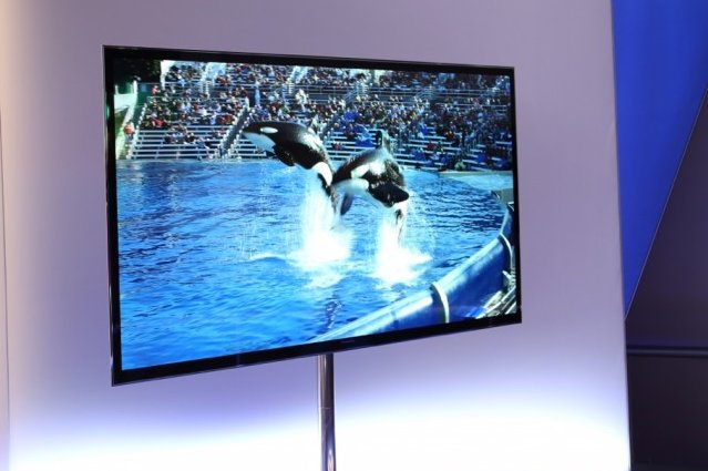 An OLED Ultra HD TV at CES.