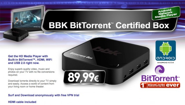 Android \u201cBitTorrent Certified\u201d box wants to bring torrents to your