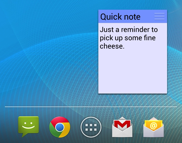 "The ColorNote widget brings ""sticky notes"" to Android's homescreen."
