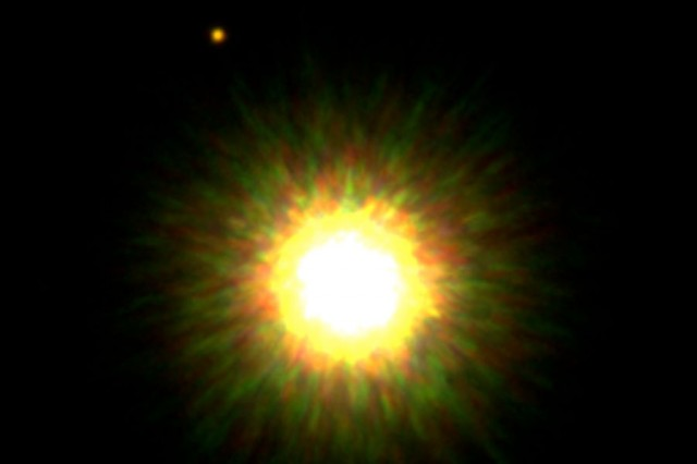 A young, Sun-like star with a planetary companion.