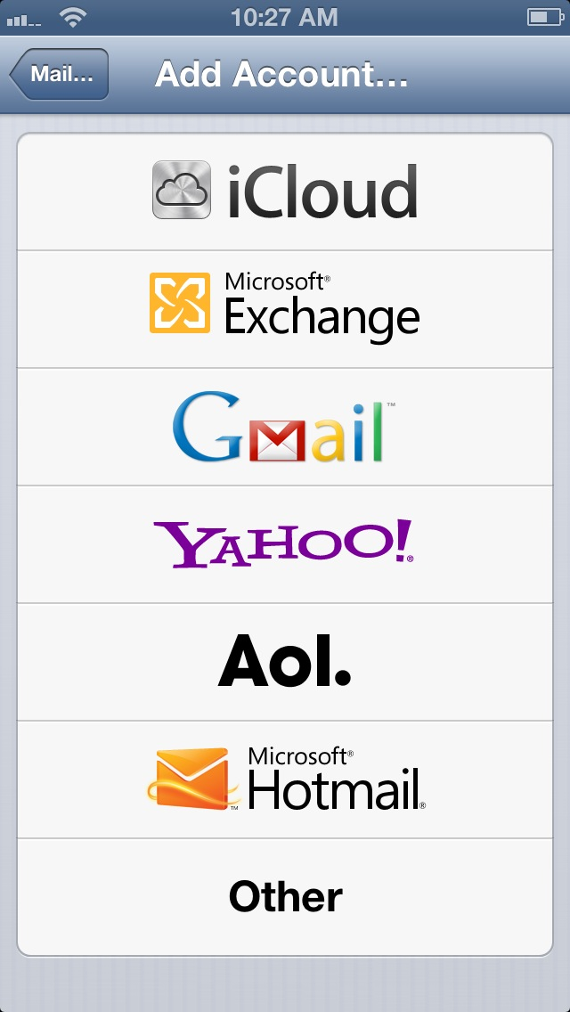 The iOS Mail app makes it relatively simple to connect to a wide variety of services.
