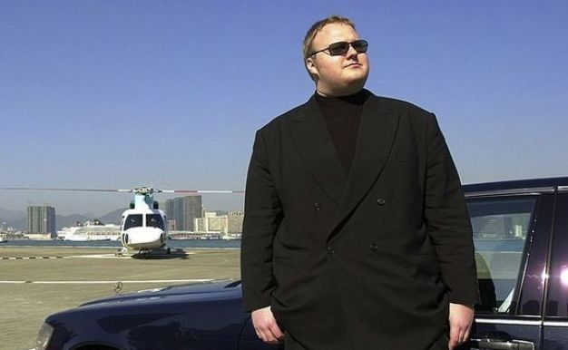 Kim Dotcom living large in happier times.
