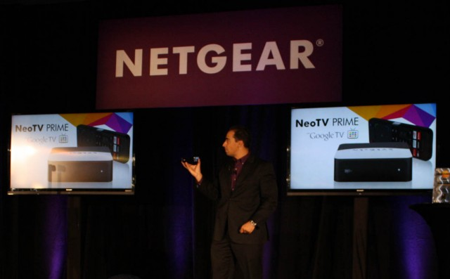 David Henry, Netgear's VP of product marketing, introduces the NeoTV Prime.