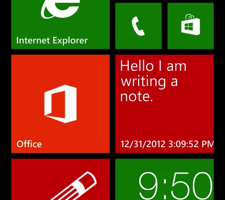 Interprone's Notes app allows you to pin individual notes as live tiles.