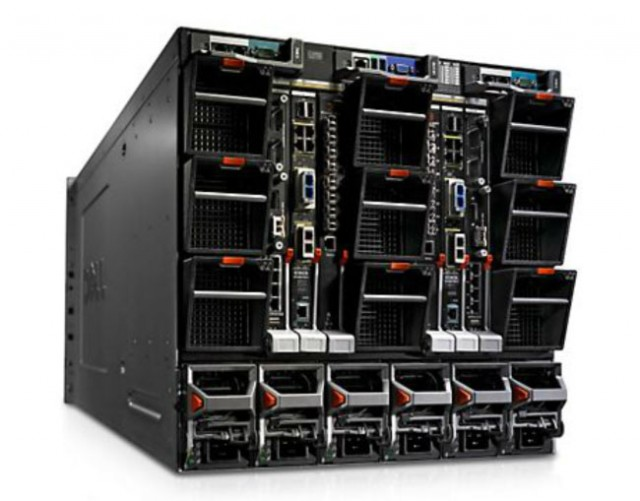 Dell PowerEdge blade enclosure.