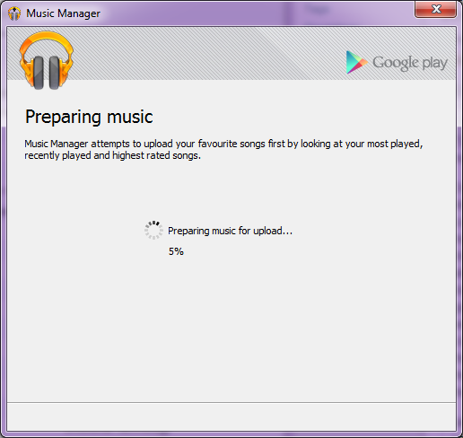 Google Music requires the use of a desktop client to upload to the app.