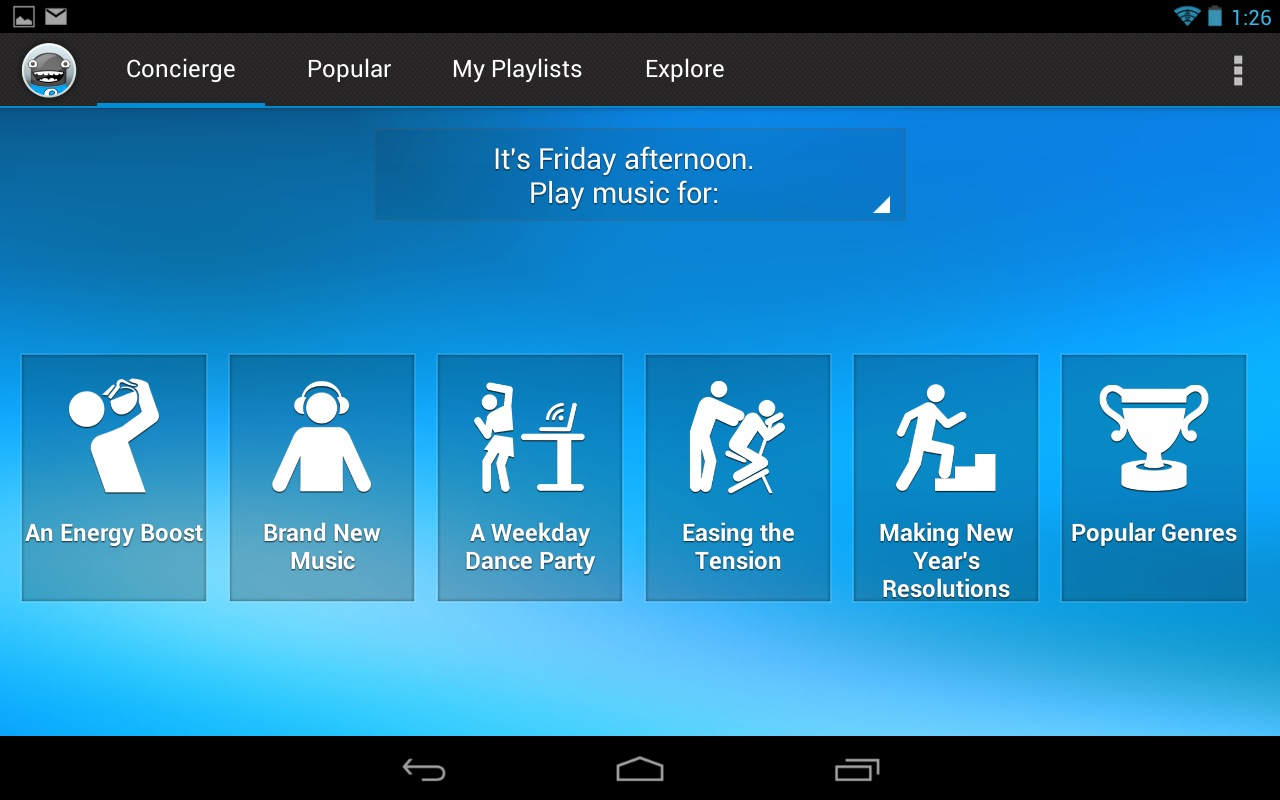Songza just wants to help you get through Friday afternoon.