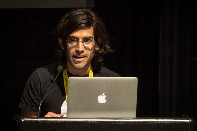 Aaron Swartz at the Freedom to Connect Conference, May 2012.