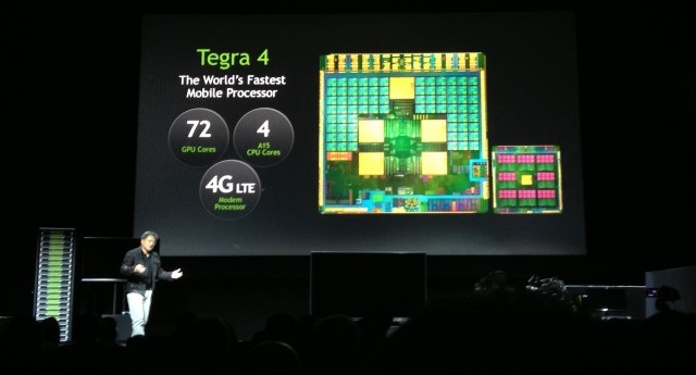 Nvidia CEO Jen-Hsun Huang officially unveils the next-generation Tegra 4 processor.