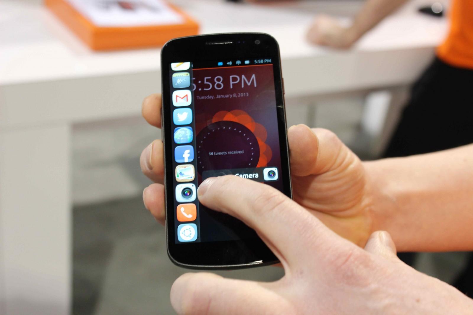 Ubuntu on a Nexus phone.
