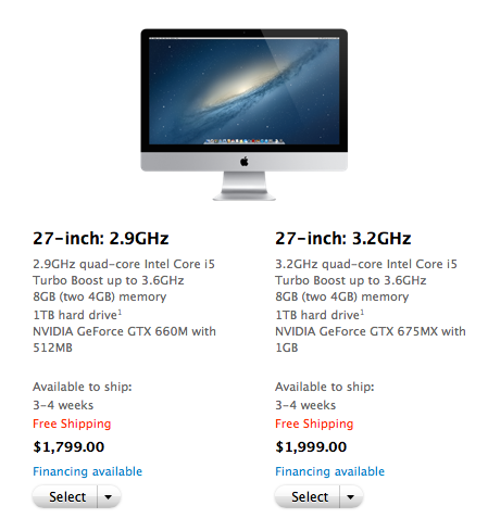 3-4 week shipping times are still making some iMac buyers wait.