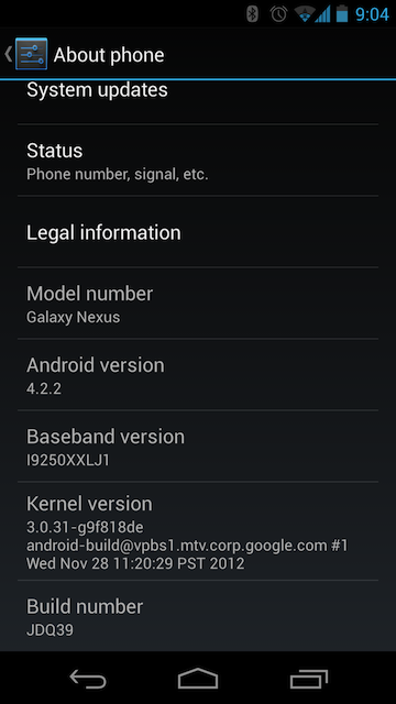 Android 4.2.2 is beginning to roll out to some Nexus phones and tablets.