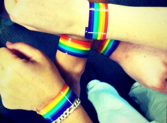 Slap bracelets activate