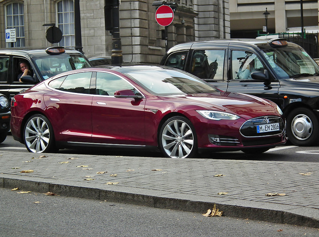 A Tesla Model S in London.