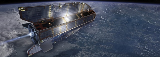 Artist's impression of GOCE satellite.