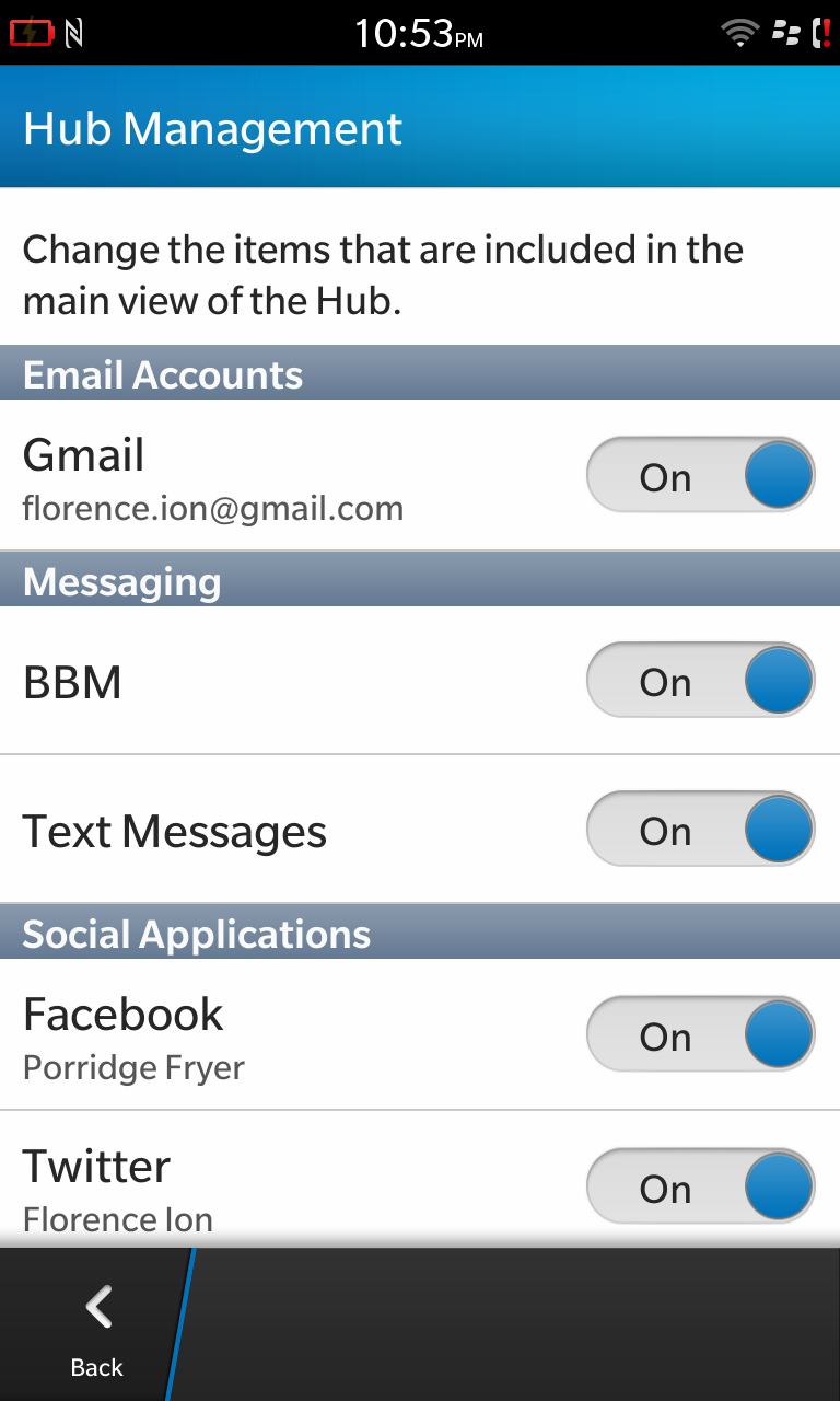 Tweak the settings of the Hub so you don't have to see what you don't want.