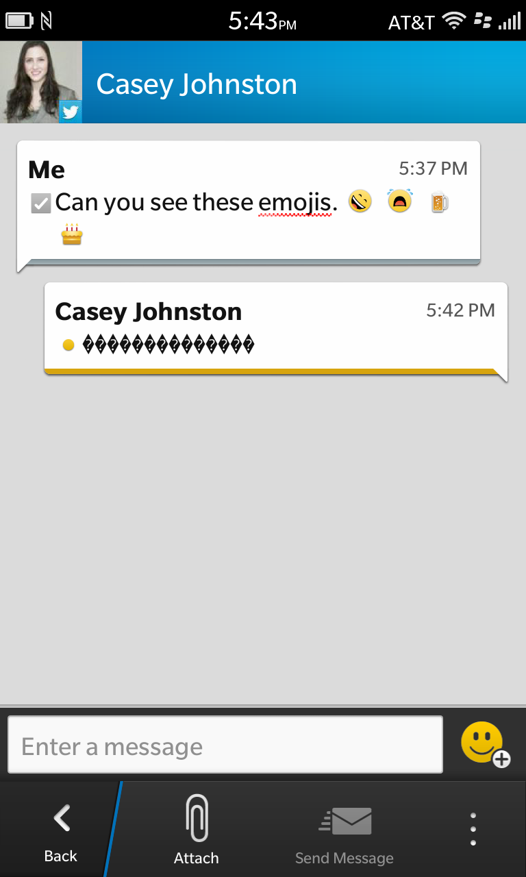 Emoji lovers: BlackBerry 10 has them...