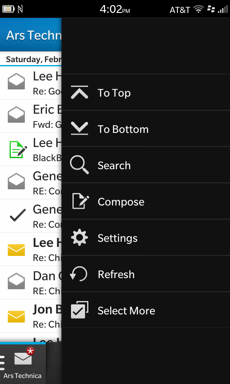 Hit the settings button in the bottom right corner to view more options for each message.