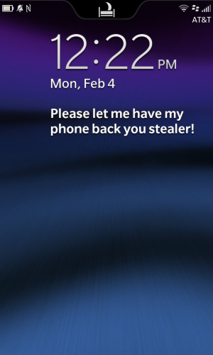For some reason, we don't think this will work in getting back the phone.