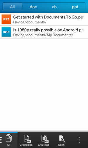 Docs To Go lets users view Office documents and create new ones.