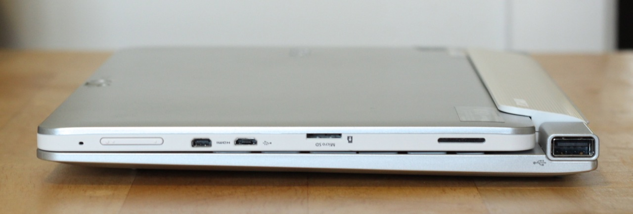 The W510 looks a bit chunky when closed in its dock, but the added flexibility in tablet mode is appreciated.