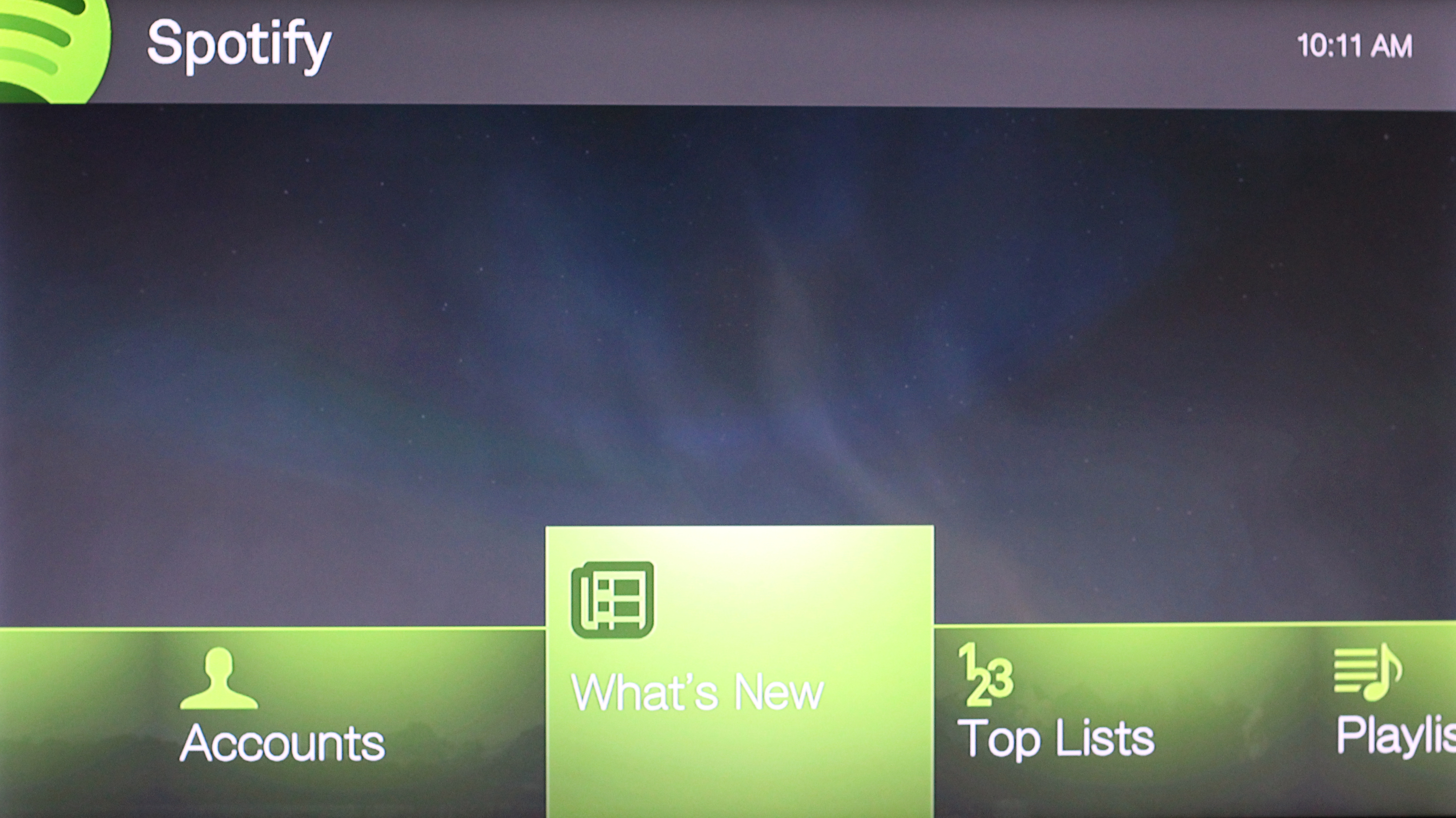 "The Spotify app sports Western Digital's ""Mochi"" interface."