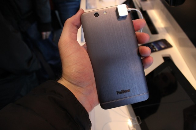 The back of the PadFone is a gently curved brushed metal that's pretty comfortable to hold.