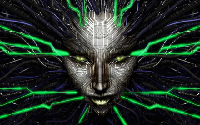 SHODAN, the mad artificial intelligence who pulls your strings.