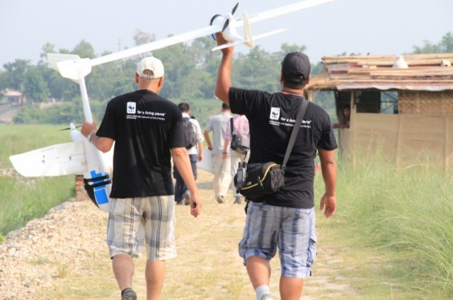 The WWF's first foray into UAV technology in Nepal last year