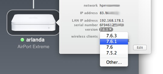 Apple updating airport extreme