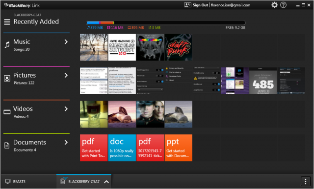 The BlackBerry Link desktop software syncs your BlackBerry with your computer.