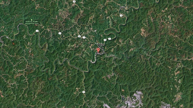 Clay, WV, a tiny outpost among the mountains, has 7 Cisco 3945 routers within .44 miles of each other.