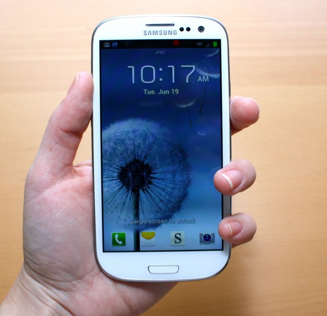 The Samsung Galaxy S III.