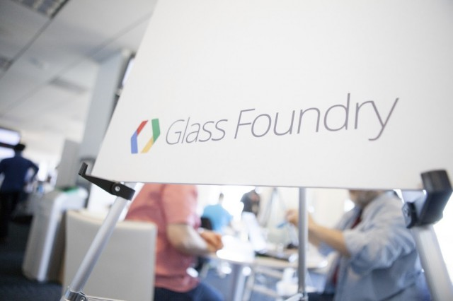 """A sign at one of Google's secret """"Glass Foundry"""" developer events in New York and San Francisco earlier this month."""
