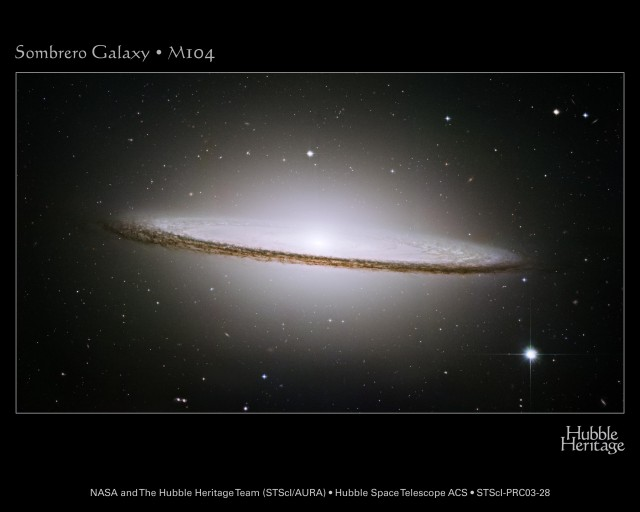 """The """"Sombrero"""" galaxy shows that matter interacting with itself flattens into disks. Dark matter doesn't seem to do that, limiting the strength of possible interactions between particles."""