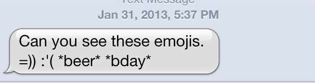 ...but they sadly render as gibberish on other emoji-enabled platforms.