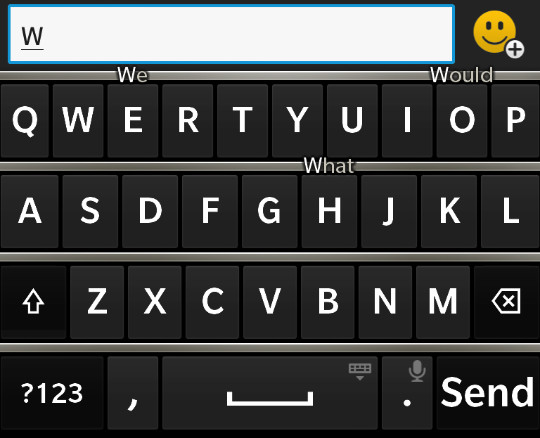 The Z10's predictive typing and accuracy are probably its two best virtues.