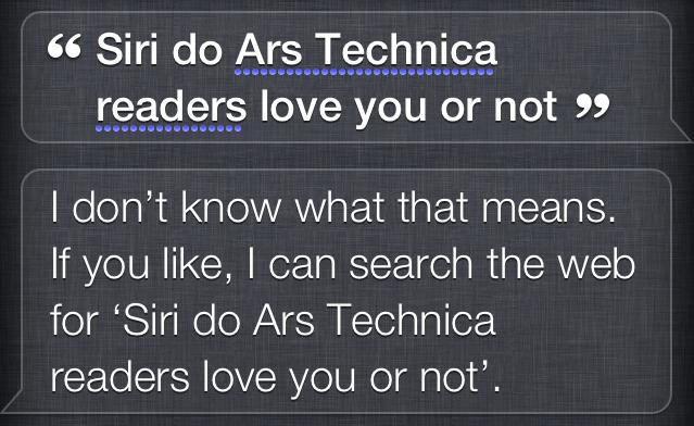 Nevermind Siri. Nevermind.