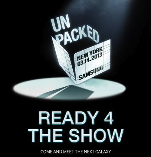 Samsung's invite to its Mobile Unpacked event, terrible pun and all.