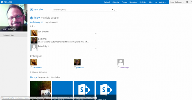 "...and in with the  fresh SharePoint ""team site."""