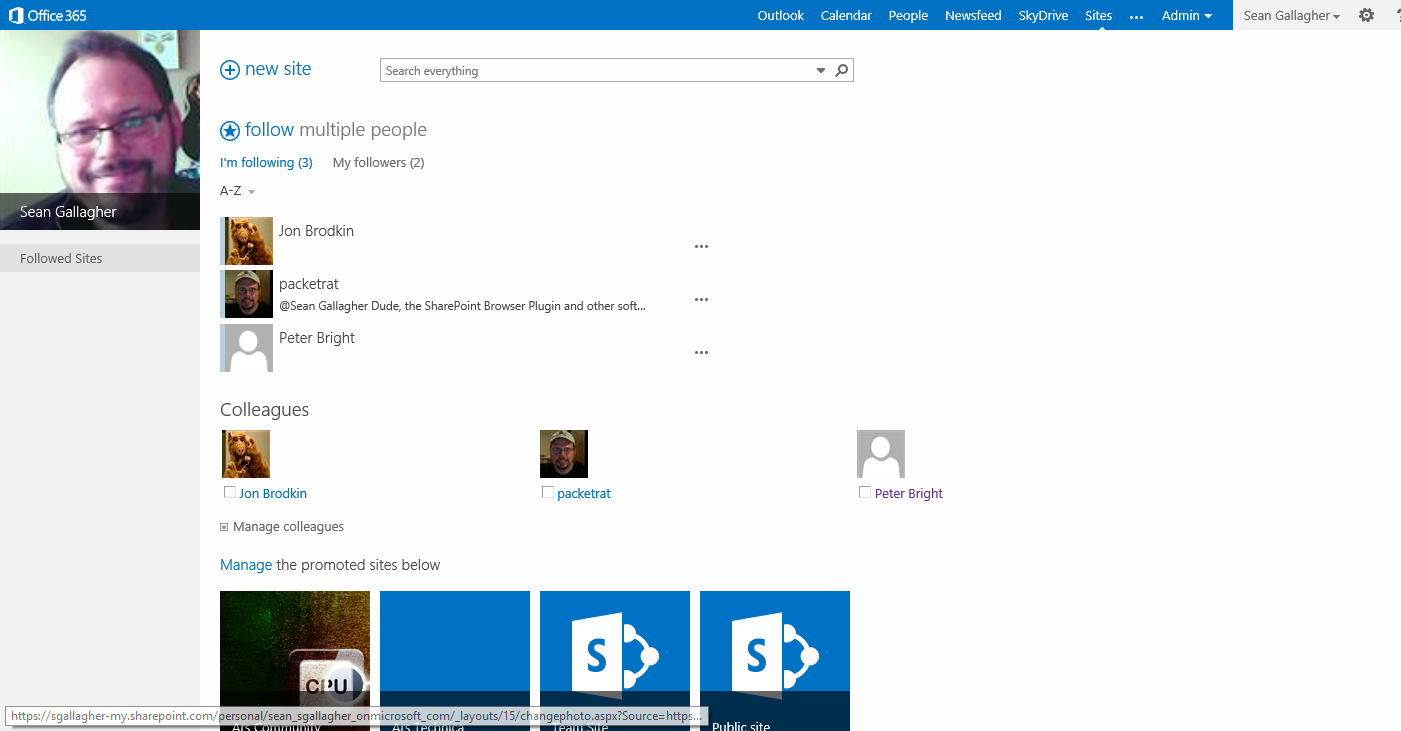 "...and in with the new SharePoint ""team site."""