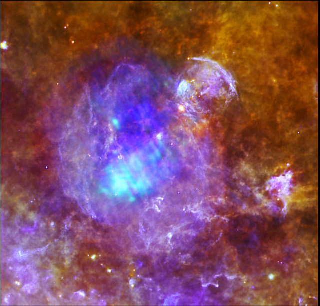 Supernova remnant W44, seen in X-ray light.