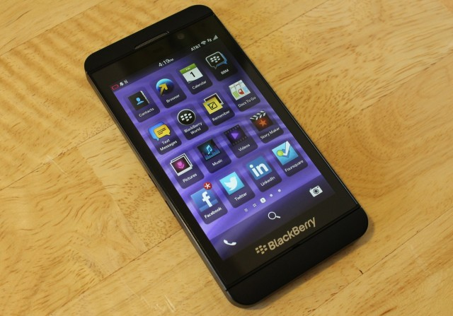 The BlackBerry Z10, which ran the BlackBerry 10 OS.