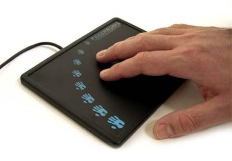 The iGesture pad manufactured by FingerWorks.