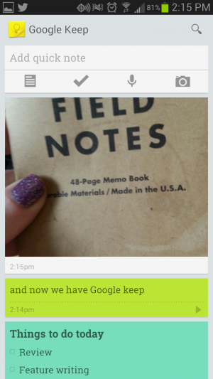 Android users can view Google Keep in single-column view...