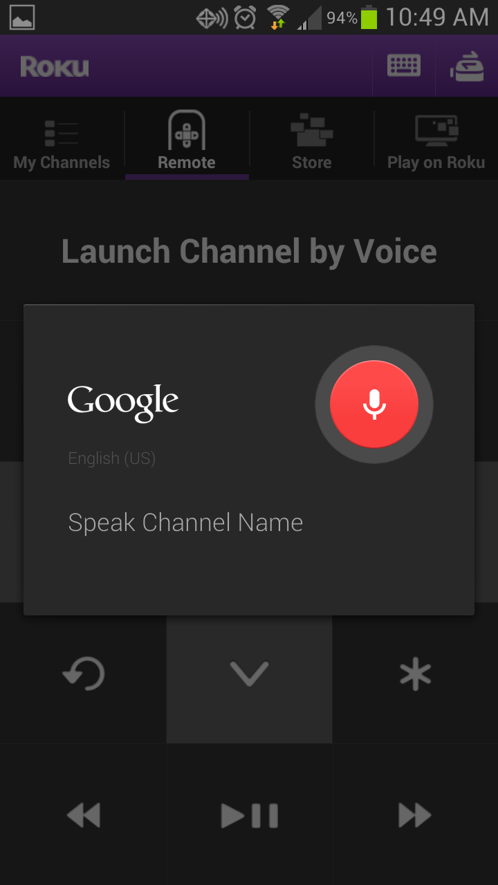 Use Google's voice control to launch an application.