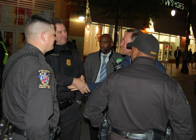 Maryland Governor Martin O'Malley meets with Montgomery County police officers in 2010.