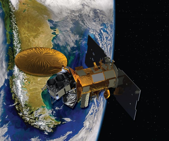 Artist's conception of SAC-D satellite