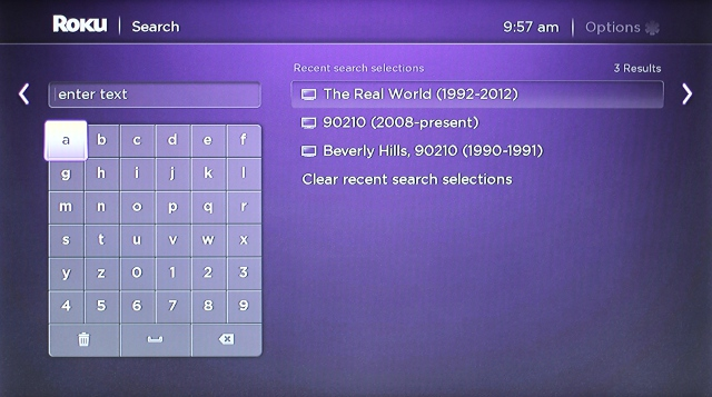 Roku will also save recent searches.